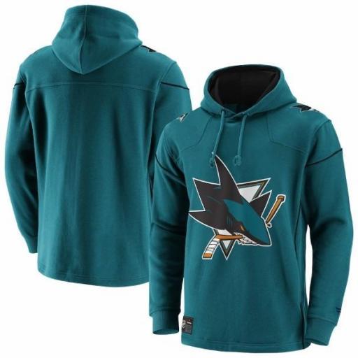 FANATICS Sudadera NHL San Jose Sharks Franchise Overhead Hoodie Teal