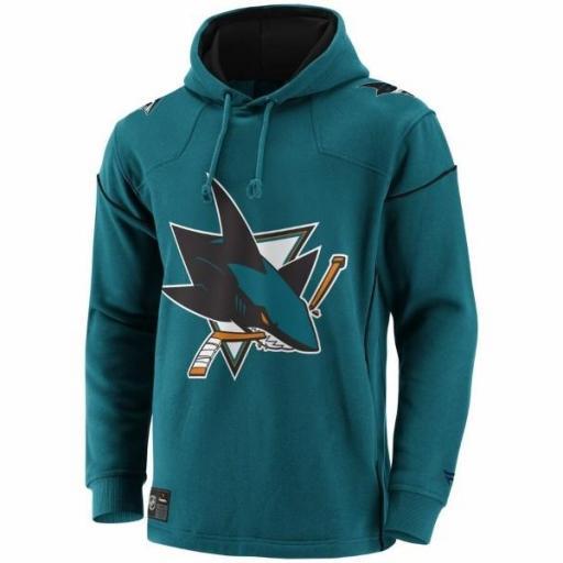 FANATICS Sudadera NHL San Jose Sharks Franchise Overhead Hoodie Teal [1]