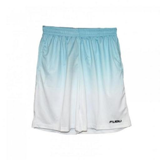 FUBU Pantalón Corporate Gradient Mesh Short White Light Blue