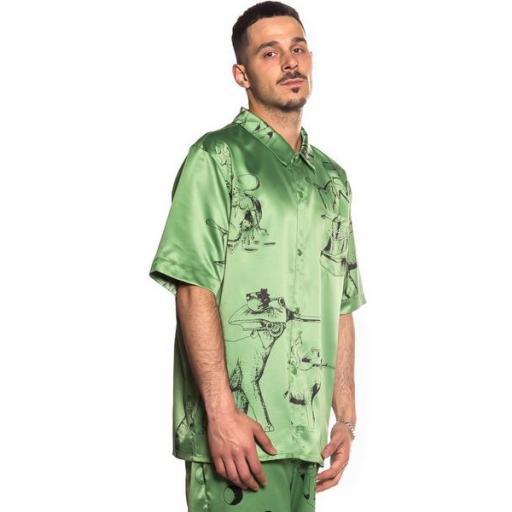 GRIMEY Camisa Hope Unseen Vimana Button up Shirt Khaki [1]