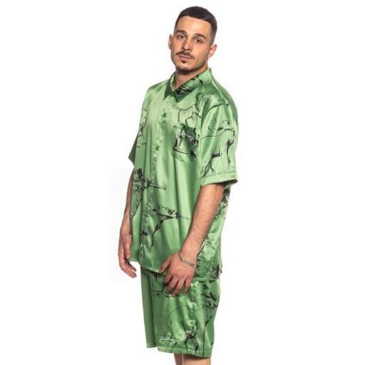 GRIMEY Camisa Hope Unseen Vimana Button up Shirt Khaki [2]