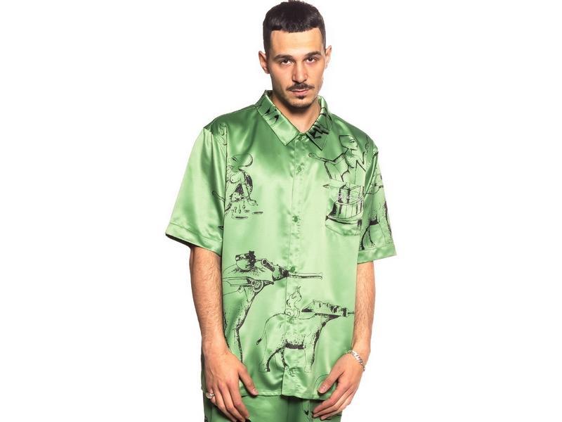 GRIMEY Camisa Hope Unseen Vimana Button up Shirt Khaki