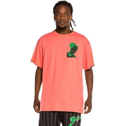 GRIMEY Camiseta Bitter Crop Tee Coral