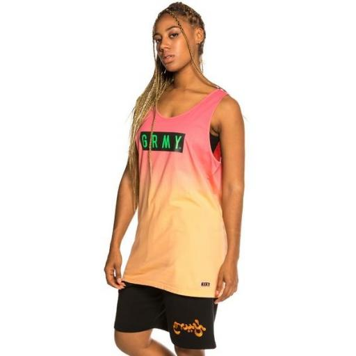 GRIMEY Camiseta Frenzy Gradient Tank Top Green [3]