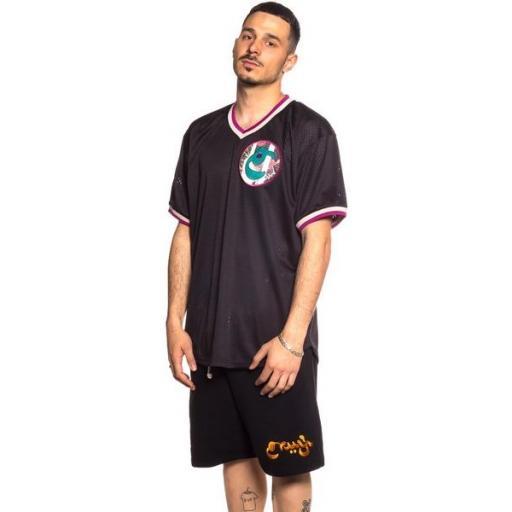 GRIMEY Camiseta Hope Unseen V Neck Mesh Tee Black [2]