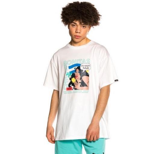 GRIMEY Camiseta Pupuseria Tee White