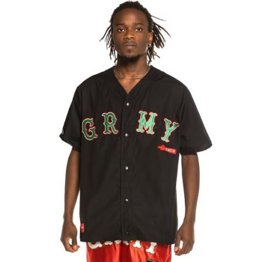 GRIMEY Camiseta The Loot Baseball Black
