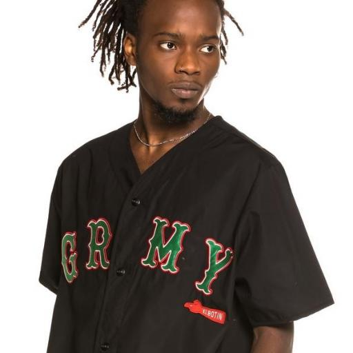 GRIMEY Camiseta The Loot Baseball Black [1]