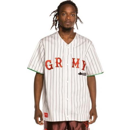 GRIMEY Camiseta The Loot El Botin Baseball White