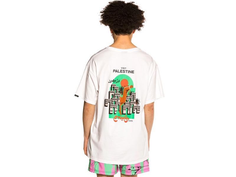 GRIMEY Camiseta Visit Jericho Tee White