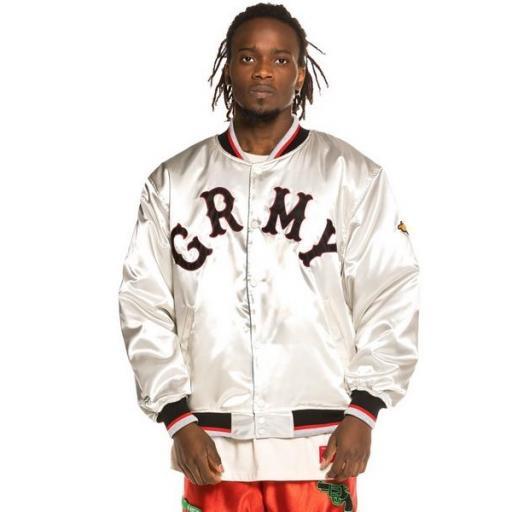 GRIMEY Chaqueta The Loot Reversible Satin Jacket White