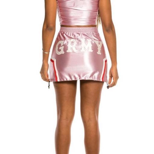 GRIMEY Mini falda The Loot Girl Skirt Pink [3]