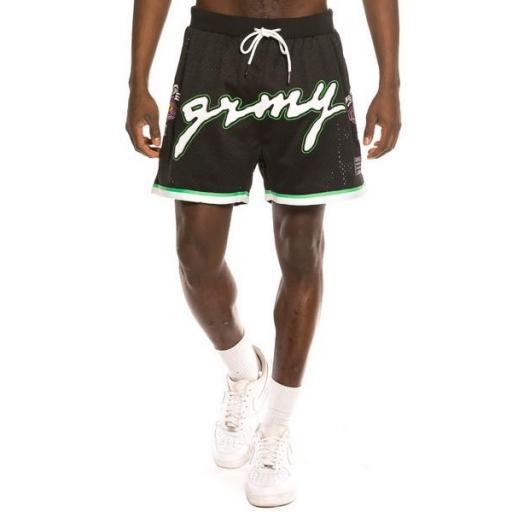 GRIMEY Pantalón corto Strange Fruit Mesh Shorts Black [1]