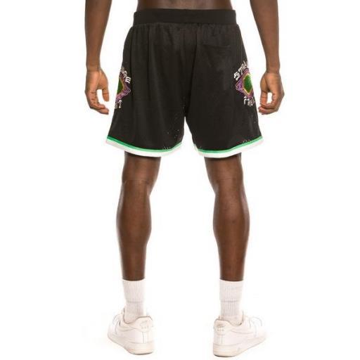 GRIMEY Pantalón corto Strange Fruit Mesh Shorts Black [2]