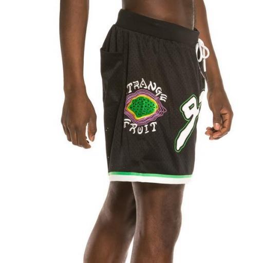 GRIMEY Pantalón corto Strange Fruit Mesh Shorts Black [3]