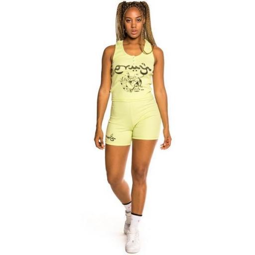 GRIMEY Top Hope Unseen Girl Cotton Top Green [0]