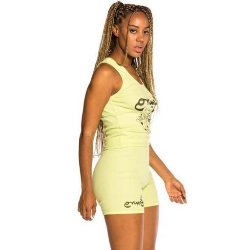 GRIMEY Top Hope Unseen Girl Cotton Top Green [2]