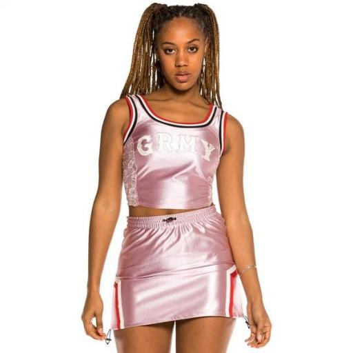 GRIMEY Top The Loot Girl Tank Top Pink [3]