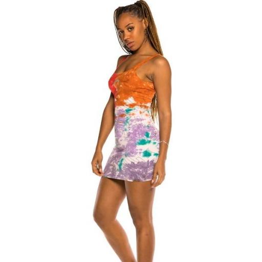 GRIMEY Vestido Liveution Girl Dress Tie Dye