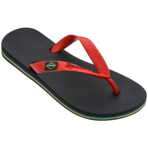 IPANEMA Chancla Clas Brasil II Kids Black Red