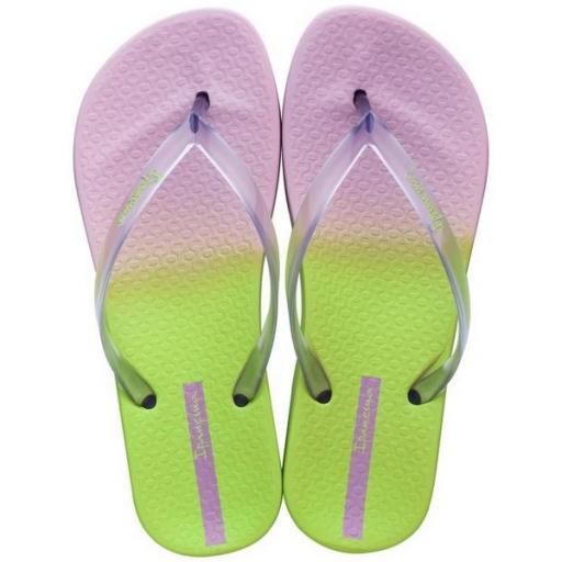 IPANEMA Chancla Colorful Fem Lilac Clear Green