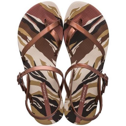 IPANEMA Sandalia Fashion Sand IX Cristina Pedroche Fem Beige Copper