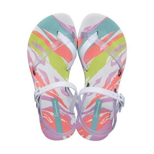 IPANEMA Sandalia Fashion Sand VII Kids White Clear Pink