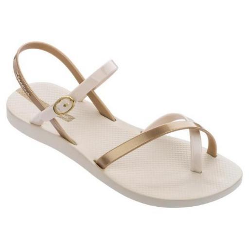 IPANEMA Sandalia Fashion Sand VIII Fem Beige Gold