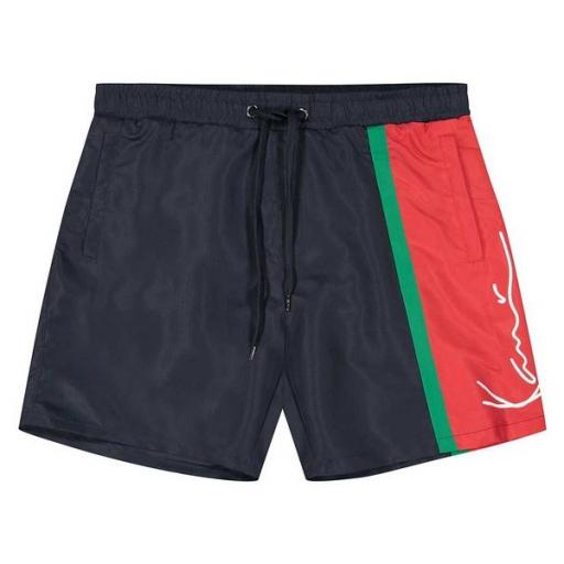 KARL KANI Bañador KK Signature Block Shorts Navy