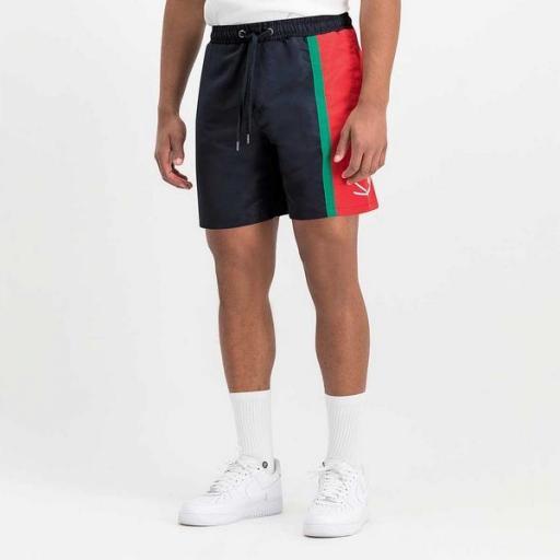 KARL KANI Bañador KK Signature Block Shorts Navy [1]