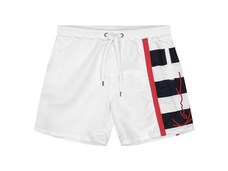 KARL KANI Bañador KK Signature Block Shorts White
