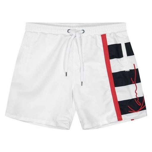 KARL KANI Bañador KK Signature Block Shorts White [0]