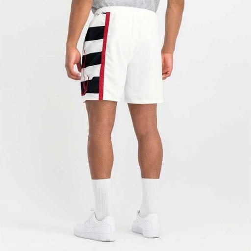KARL KANI Bañador KK Signature Block Shorts White [2]