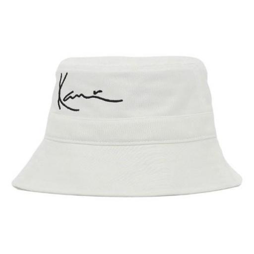 KARL KANI Bucket KK Signature Bucket Hat White