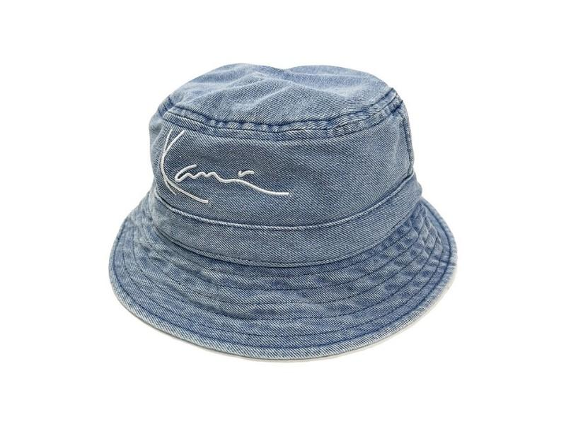 KARL KANI Bucket KK Small Signature Denim Bucket Hat Blue