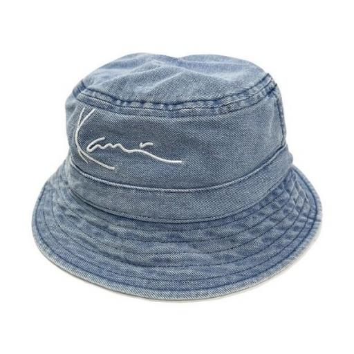 KARL KANI Bucket KK Small Signature Denim Bucket Hat Blue