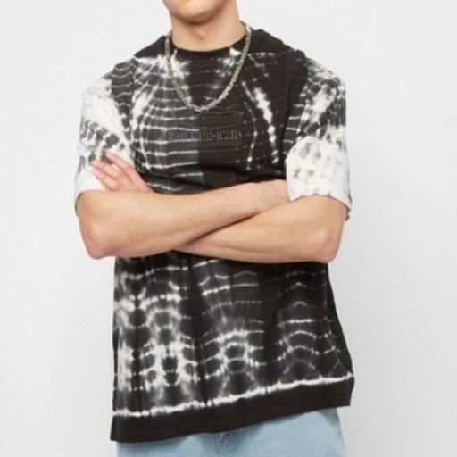 KARL KANI Camiseta KK Signature KKJ Tie Dye Tee White