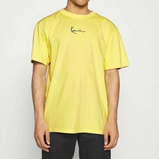 KARL KANI Camiseta KK Small Signature Washed Tee light Yellow