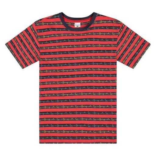 KARL KANI Camiseta Originals Stripe Tee Red [2]