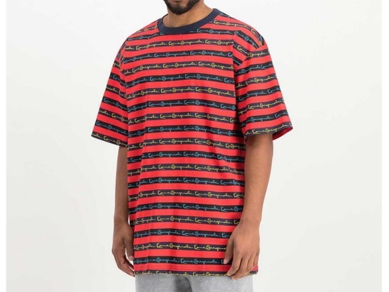 KARL KANI Camiseta Originals Stripe Tee Red