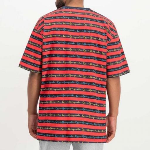 KARL KANI Camiseta Originals Stripe Tee Red [1]