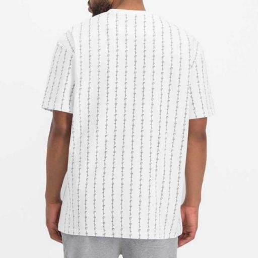 KARL KANI Camiseta Signature Logo Pinstripe Tee White [1]