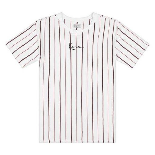 KARL KANI Camiseta Small Signature Pinstripe Tee White [3]