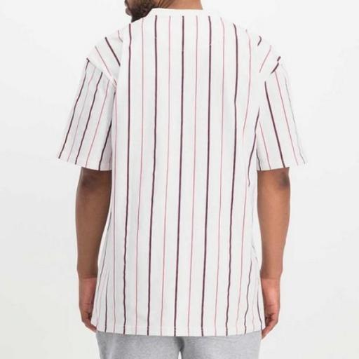KARL KANI Camiseta Small Signature Pinstripe Tee White [1]