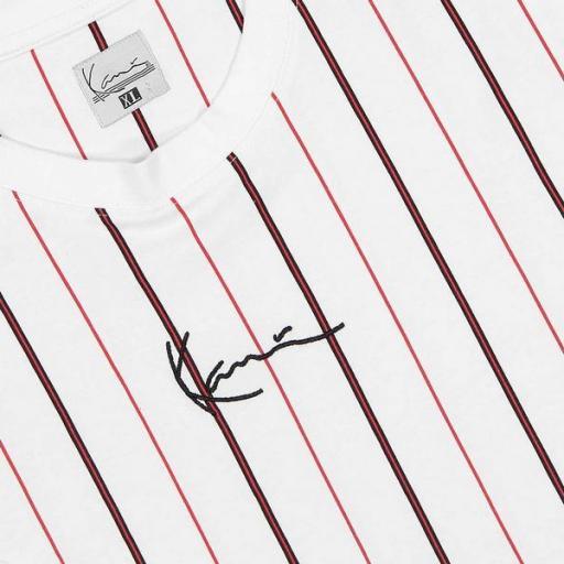 KARL KANI Camiseta Small Signature Pinstripe Tee White [2]