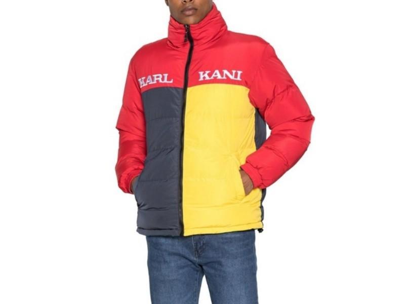 KARL KANI Chaqueta Retro Reversible Block Puffer Jacket Red Yellow Navy