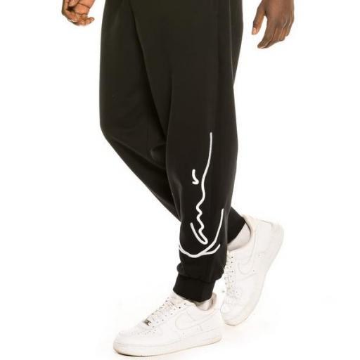 KARL KANI Pantalon KK Signature Retro Sweatpants Black White