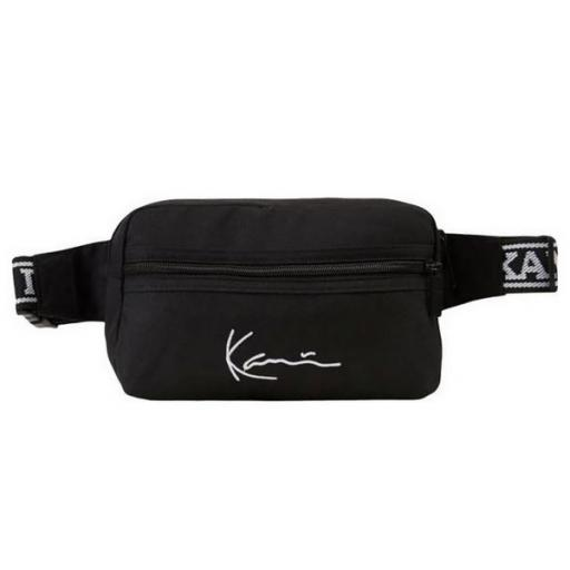 KARL KANI Riñonera KK Signature Tape Hip Bag Black White