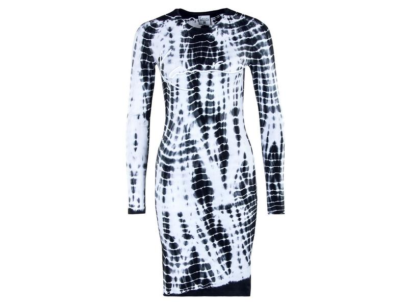 KARL KANI Vestido KK Signature Tiedye Rib Dress white
