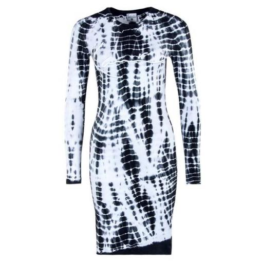 KARL KANI Vestido KK Signature Tiedye Rib Dress white